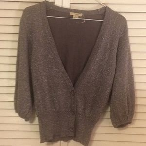 NWOT XXI Small lavender glitter cropped sweater